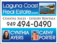 Cynthia Ayers Laguna Coast Real Estate representing Laguna Beach Vacation Home Rentals and Coastal Sales