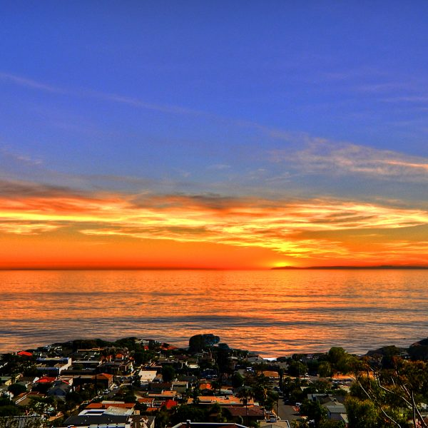 Catalina Island Sunset views from this Laguna Beach rental in Emerald Terrace